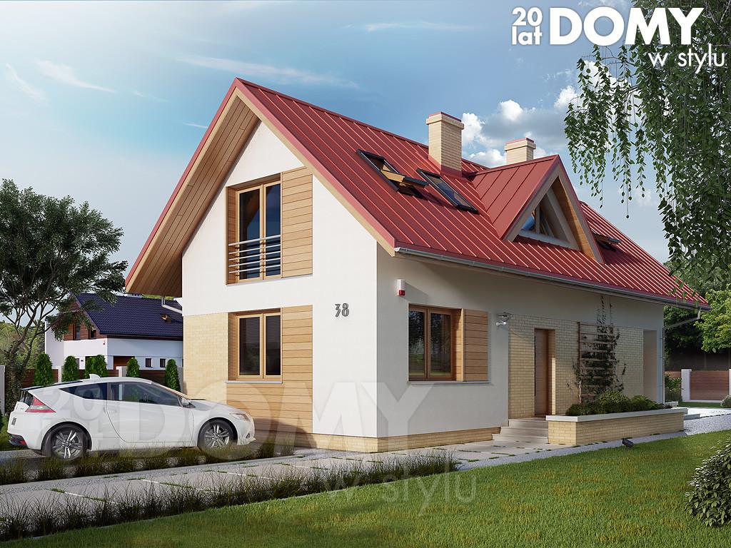 projekt domu na wąską działkę